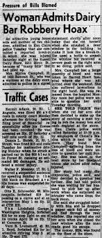 Myrna story of Robbery Hoax - Newspapers.com