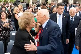 Il Presidente Giorgio Napolitano con la Prof.ssa Maria Falcone, in ...