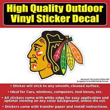 Chicago Blackhawks Hockey Vinyl Car Window Laptop Sticker Decal Colorado Sticker