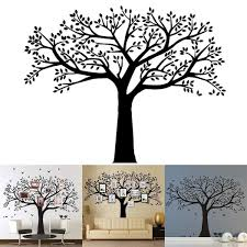 Family Tree Wall Decal Butterflies And Birds Wall Decal Vinyl Wall Art Photo Frame Tree Stickers Living Room Home Decor Wall Sti Wall Stickers Aliexpress