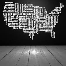 Usa Word Cloud Words Letters Decal Vinyl Sticker Wall Home Decor Vinylwallaccents On Artfire