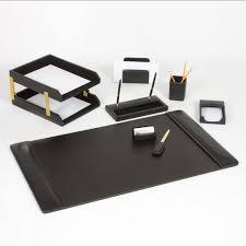 office accessories plus leather desk