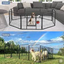 Bestpet Dog Pen Extra Large Indoor Outdoor Dog Fence Playpen Heavy Duty 16 8 Panels 24 32 40 Inches Exercise Pen Dog Crate Cage Kennel 32 W X 24 H 8 Panles Amazon In Pet Supplies
