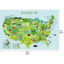 Harriet Bee Map Of United States Wall Decal Wayfair