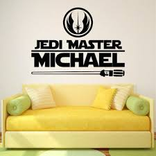 Star Wars Name Wall Decal Jedi Master From Fabwalldecals On Etsy