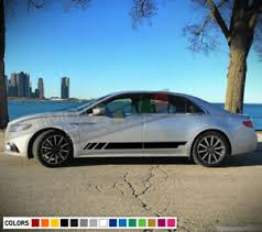 Sticker Decal Vinyl Side Door Stripes For Lincoln Continental Racing Window 2018 Ebay