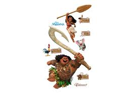 Moana Collection Officially Licensed Disney Large Removable Wall Graphics Fathead Wall Decal Wall Graphics Wall Decals Moana Decorations