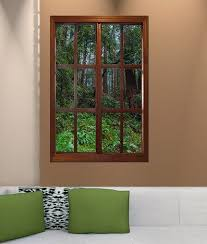 10 Brilliant Ways To Fake Windows In Your Basement With Images Fake Window Faux Window Window Mural