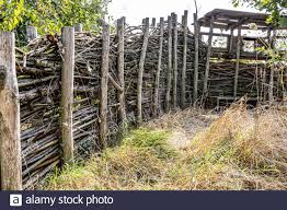 Fence Made Of Branches High Resolution Stock Photography And Images Alamy