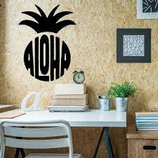 Aloha Wall Decal Sticker With Hawaiian Pineapple Design Customvinyldecor Com