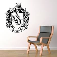 Hufflepuff House Crest Hogwarts Harry Potter Decor Wall Decal Vinyl Sticker W94 22x27 Message For Color