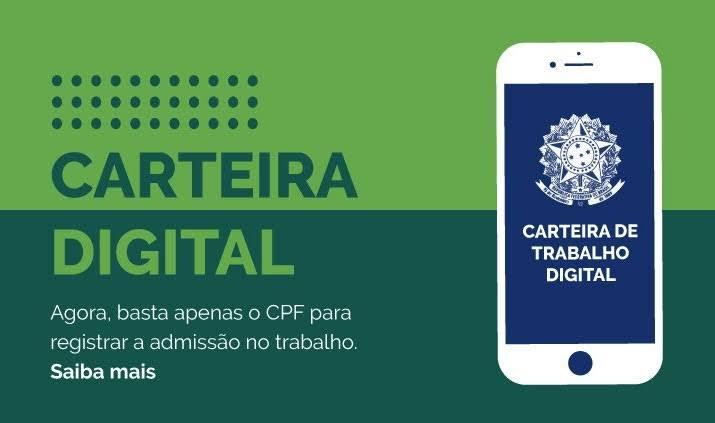 """Resultado de imagem para CARTEIRA DE TRABALHO DIGITAL"""""""