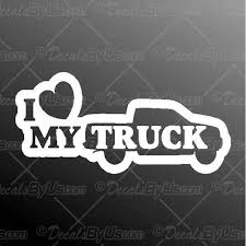 Lowest Prices On I Love Heart My Truck Car Decals