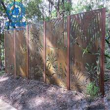 China Garden Home Architectural Rustic Corten Steel Laser Cut Metal Fencing Panels China Laser Cutting Fence And Metal Privacy Fence Price