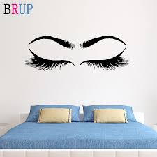 Eyelashes Stickers Woman Make Up Wall Sticker Eyebrow Wall Decal Lashes Extensions Beauty Shop Decor Brows Mural Beauty Custom Wall Stickers Aliexpress