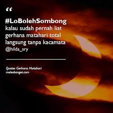 com quotes kicauan orang tentang gerhana matahari