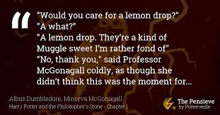 would you care for a lemon the pensieve potterveille