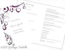 catholic wedding program template no