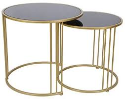 gold black side table or coffee table
