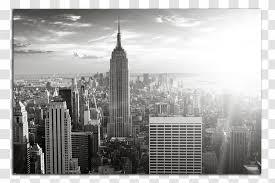 Manhattan Mural Skyline Wall Decal Wallpaper City Building Transparent Png