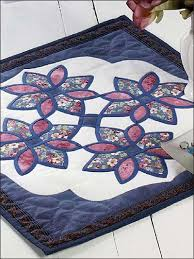 stained glass flowers candle mat