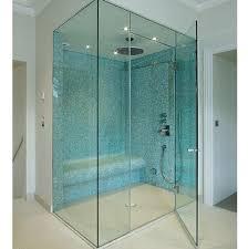 toughened glass shower bathroom