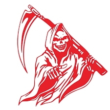 Wholesale Car Sticker Grim Reaper Skull Pattern Decal Machine Car Truck Wall Window Vinyl Sticker Red From China