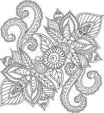 Kleurplaten Voor Volwassenen Mehndi Henna Doodles Abstract Floral