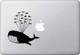 The Decal Store Com By Yadda Yadda Design Co Mb Whale Airlift With Flying Fish Design 1 Whale Laptop Decal Vi