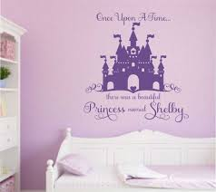 Custom Girl Wall Decal Once Upon A Time Princess Castle Girls Wall Decals Princess Room Decor Vinyl Wall Lettering