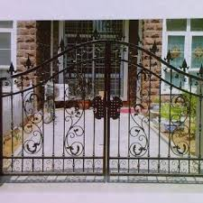 Angle Bar Fence And Gate Design View Main Gate Design Oumei Product Details From Foshan Cxoumei Technology Co Ltd On Alibaba Com