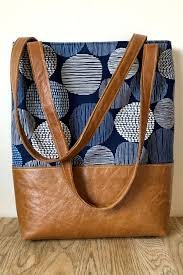 pattern tote with a pocket for your
