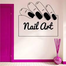 The Nail Salon Wall Sticker Beauty Salon Window Decal Beautiful Nails Wall Art Mural Nail Art Polish Wall Poster Decor 3054 Wall Stickers Aliexpress