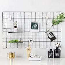 2019 metal wire grid photo wall home