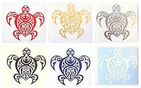 Tribal Honu Turtle Decal Hawaii Hawaiian Car Truck Sticker 4 Sizes 6 Colors 4 99 Picclick