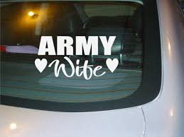 Army Wife Vinyl Car Decal Sticker New Etsy