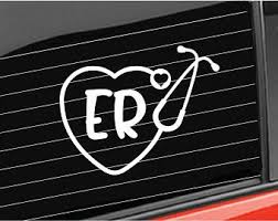 Er Nurse Decal Etsy
