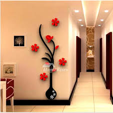 Large Wall Stickers Flower Self Adhesive Acrylic 3d Living Room