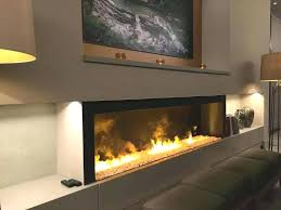 built in electric fireplace insert