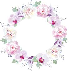 Amazon Com Ew Designs Pretty Watercolor Hipster Orchid Flower Wreath Crown Border Vinyl Decal Bumper Sticker 8 Wide Kitchen Dining