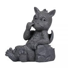 nose picker dragon garden statue 9