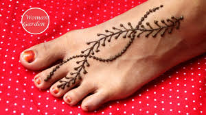 easy mehndi design simple leg