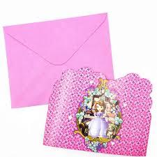 6 Unids Set Sofia Princesa Invitacion Suministros Para Fiestas Y Tarjetas Tema Ninos Bebe Feliz Cumpleanos Fiestas Infantiles Decoracion Aliexpress