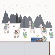 Brewster Laid Back Llamas Peel Stick Wall Decal Art Kit At Menards