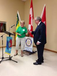 Peggy George Communities in Bloom presentation to Melfort Rotary | Rotary  Club of Melfort