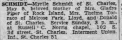 Obituary for Myrtle SCHMIDT - Newspapers.com