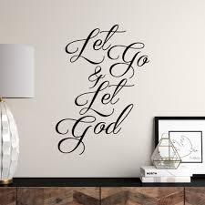 Wrought Studio Buske Let Go Let God Wall Decal Reviews Wayfair