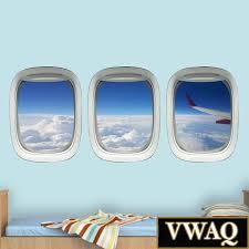 Airplane Window Plane Window Decal Aviation Wall Decor Etsy Waterfall Wall Art Window Stickers Window Decals