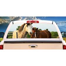 Horse Friends Rear Window Graphic Truck View Thru Vinyl Decal Back Walmart Com Walmart Com