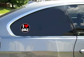 I Love Golf Sticker U S Custom Stickers